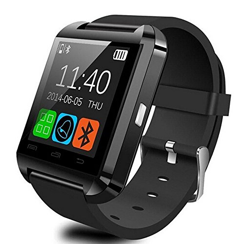 GroMate U8 Bluetooth V3.0 Smart Watch Inteligente Reloj Teléfono Compañero Pantalla tactil capacitiva para Smartphones IOS Apple iphone 4/4S/5/5C/5S Android Samsung S2/S3/S4/Note 2/Note 3 HTC Huawei Negro