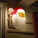 Besti Santa Porch Light Cover Holiday and Christmas Decorations   Flexible, Weather-Resistant Acrylic   No Tools or Installation Required   Fits Standard Outdoor Lighting