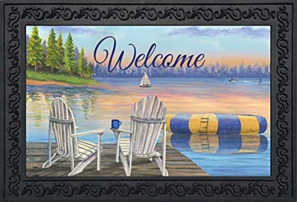 Briarwood Lane Waterfront Retreat Nautical Doormat Summer Welcome Indoor Outdoor 18 X 30