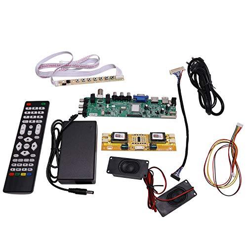 Sunsdew .D3663LUA.A81 DVB-T2 / T/C TV Digital 15-32 Pulgadas Placa de Controlador de TV LCD Universal Controlador para 30Pin 2Ch, 8-bit (Enchufe de la UE)