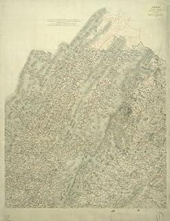 "HP 18/""x24/"" 1863 Map Culpeper County Madison Rappahannock /& Fauquier Counties VA"