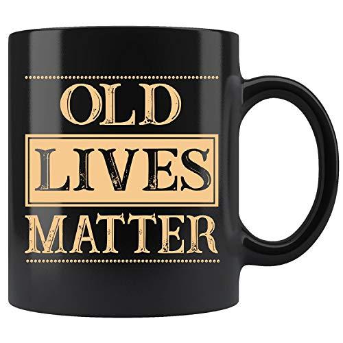 Old Lives Matter Elderly Senior Grandpa Coffee Mug 11oz Tea Cups