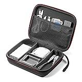 サンワダイレクト トラベルポーチ ガジェットポーチ セミハード 仕切り付 旅行 出張 便利グッズ マウス ケーブル モバイルバッテリー 収納ポーチ Mサイズ ブラック 200-BAGIN015BK