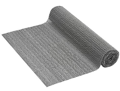 Venilia PVC Anti-Rutsch Unterlage Venigrip Anthrazit Schubladenmatte, Kofferraummatte, Antirutsch Universalmatte, 30 x 150 cm, 54164