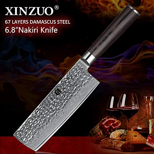 Best Quality Kitchen Knives 6.8 inch Chinese Chef Knife 67 layer Damascus Stainless Steel Kitchen Knife Hot Selling Home Chef Knife Pakkawood Handle