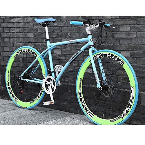 LWJPP 26 Pulgadas de Ruedas City Road Dual de suspensión de Bicicleta de montaña de Doble Freno de Disco de Acero de Alto Carbono MTB Bicicletas por la Calle Camino de la Bici (Color : C)