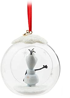 Disney 2015 Sketchbook Olaf Glass Globe Ornament Christmas Holiday Tree