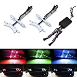 iJDMTOY RGBW Multicolor LED Headlight Circuit Board Ambient Lighting Kit Compatible With 2015-up Dodge Challenger w/Smartphone Remote Control App