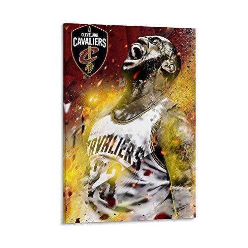 NQSB Póster decorativo de LeBron James 16 del Campeonato de Baloncesto de LeBron James 16, lienzo decorativo para pared, para sala de estar, dormitorio, 50 x 75 cm
