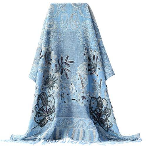 liangzishop Winterschal High-End-Frauen-Tücher Hand Bestickt Schal Stilvolle dick Warmer Schal Urlaub Geschenke geeignet for Herbst und Winter Damen Schal