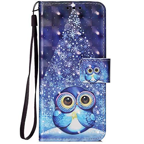 Felfy Kompatibel mit Galaxy A7 2018 Hüllen PU Leder Magnet Flip Cover Bunt Muster Handyhülle Schutzhülle Tasche Case mit [Kartenfach] [Standfunktion] Klapphülle Handytasche Schale Bumper