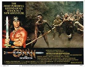 Conan The Destroyer Arnold Schwarzenegger Grace Jones Original Lobby Card