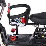 GLJY Kinder-Fahrrad-Vordersitz, elektrischer Motorrad-Kindersitz mit Handlaufpedal, bequemer Sicherheits-Kindersitz für Elektroautos,A