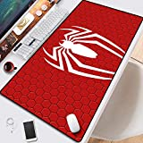 Avengers Spider-Man Extended Anime Large Mouse Keyboard Pad Game, 300X800X3mm, Non-Slip Rubber Base, Compatible with Laser and Optical Mouse (Color : H, Size : 300X800X2mm)