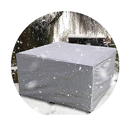 NINGWXQ Garden Furniture Cover Scheurweerstand Koord Ontwerp winddicht zeildoek van Set rechthoek, 29 maten, 2 kleuren (Color : Silver, Size : 160×160×70cm)
