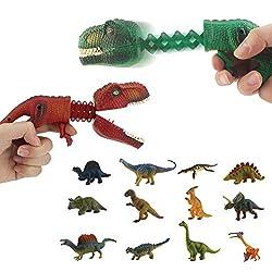2. DINOBROS Hungry Dino Grabber with 12 Small Dino Figures (2pcs)
