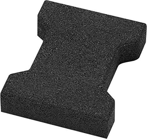 Elastikpflaster Fallschutz 200x165x43mm Doppel-T-Verbundpflaster Gummi schwarz