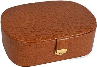 Stones Bridge Designer and Luxurious Leather Jewellery Box.Jewellery Storage Box(Tan)