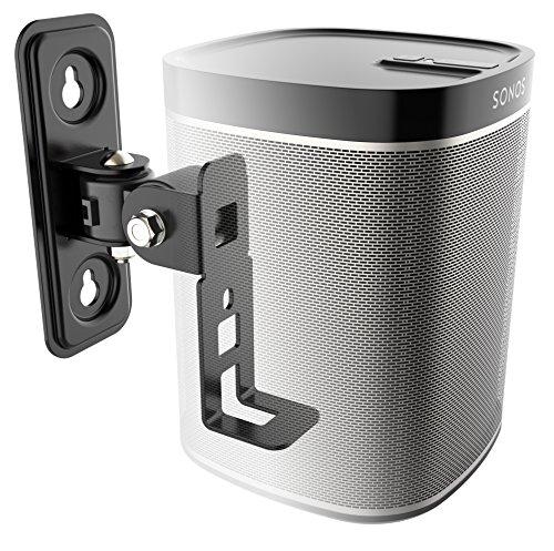 RICOO LH431-B, Lautsprecher Wand-Halterung für Sonos Play:1, WLAN Airplay Speaker Musik Boxen Wand-Halter Wall Mount bis 2-kg, 1 STK, Schwarz