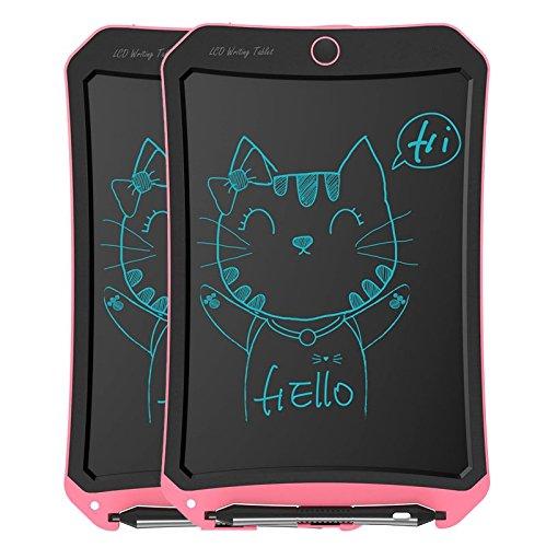[2-pack] écran LCD 21,6 cm de tablette d'écriture, écriture manuscrite papier électronique Coussinets de dessin et d'écriture de cadeaux pour enfants et adultes à la maison, à l'école et au bureau