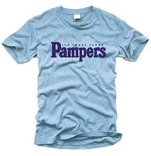 FOTL / B&C / Gildan Ich trage gerne Pampers (Sky) - T-Shirt - Gr. M