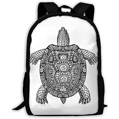 Hdadwy Lightweight Basic Bookbag,Men/Women Travel Backpack,Casual Shouder Knapsack,Magical Big Turtle Student School Daypack,for Adult/Teens,Laptop Business Rucksack