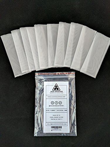 Agar Industries - Rosin Press Filter Bag 1.5x4 in. 160 micron (10 pack) - Screens For Solventless Oil Extractions in Rosin Tech