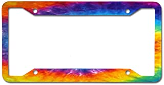 NgkagluxCap Custom License Plate Frame Quality Aluminum License Plate Cover for US and Canada Vehicles 4 Holes and Screws