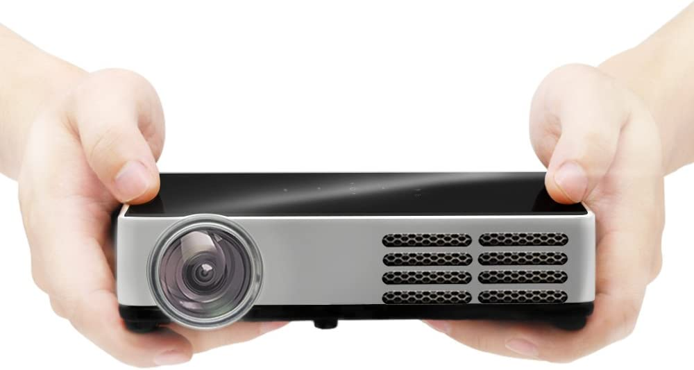 iCODIS CB-300W Mini Projector, 3000 Lumens, Native HD Resolution, 3D Playback, 30000 Hours lamp Life, Android OS Portable Pico Projectors