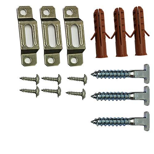Anti-Diebstahl-Sicherheitshaken, Haken und Schraubenschlüssel. Sicherheits-Hardware System zum Verschließen von gerahmten Bildern an die Wand. für Holz- und Polymer-Bilderrahmen