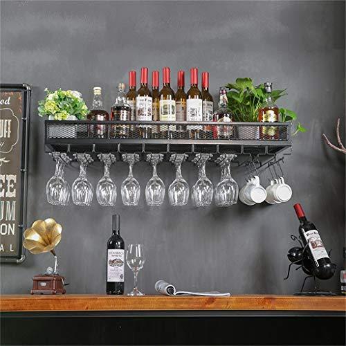 LXDZXY Botelleros, Soporte de Pared Metal Vintage | Soporte para Botella de Vino de Pie | Soporte para Copa de Vino Colgante | Soporte de Vino Rústico Enfriador de Vino Montado en la Pared Soporte de