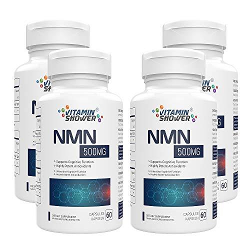 NMN Nicotinamide Mononucleotide Supplement 500mg, natürliches Boost NAD+ Level für Zellreparatur, Energie & Anti Aging, 240 Kapseln (4er Pack)