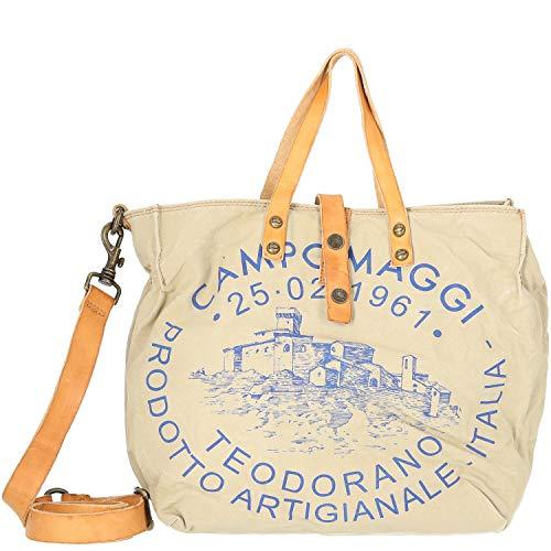 Campomaggi Lavaggio Stone Shopper 33 cm beige Naturale st.blu
