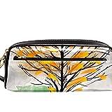 ATOMO Estuche de piel sintética con diseño de árbol de crecer de gato, estuche de alta capacidad, superficie lisa y resistente al uso, para oficina
