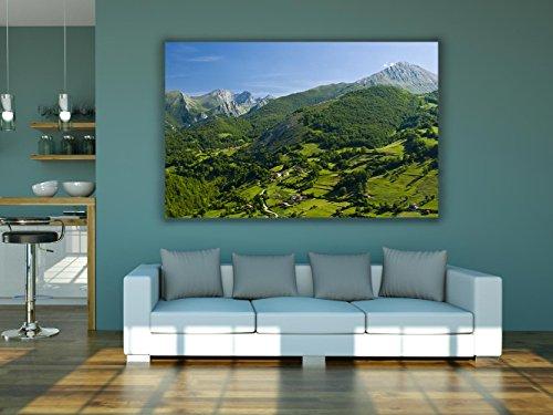 Cuadro PVC Impresión Digital Covadonga Asturias Multicolor 100 x 100 cm | Disponible en Varias Medidas | Cabecero Ligero, Resistente y Económico