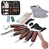 Wood Carving Tools Set,Detail Wood Knife,Hook Carving Knife Kit for Beginners,Trimming Knife for Spoon Bowl Cup Pumpkin Woodwork, Chip Carving Knife Kit,Square Handle Design(6pcs)