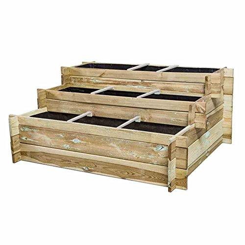 Siena Garden Hugo Hochbeet-Treppe 120x100x54cm, 3 Stufen