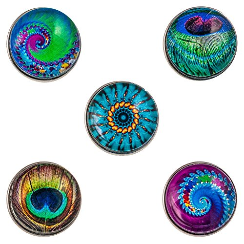 Morella® Damen Click-Button Set 5 Stück Druckknöpfe Color Games