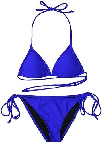 1949shop Maillots de Bain pour Femmes, Ensemble de Bikini, Maillots de Bain pour la Plage (Couleur  Bleu, Taille  M)