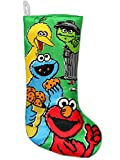 Officially-licensed Sesame Street stocking Made of polyester Hangs from white loop
