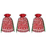DOITOOL 5 piezas creativas no tejidas dulces bolsa de almacenamiento Chrsitmas bolsa de almacenamiento con cordón bolsa ecológica para regalo joyería colección Hmoe decoración