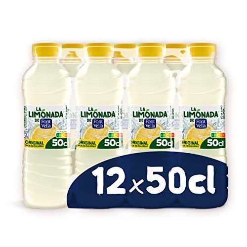 La Limonada de Font Vella Agua Mineral Natural, con Zumo de Limón, 12 x 50cl