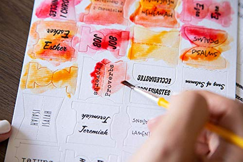 Paint Your Own Watercolor Bible Tabs (Peel and Stick)