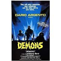 Suuyar Demons Movie Horror Dario Argento Demoni Classic Film Poster And Prints Wall Art Print On Canvas For Living Room-20X30 Inchx1 Frameless