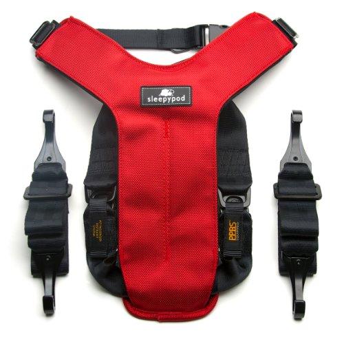 Sleepypod Clickit Utility Auto-Sicherheitsgurt Strawberry Red Extra Small für ISOFIX-Kindersitzbefestigungs-System
