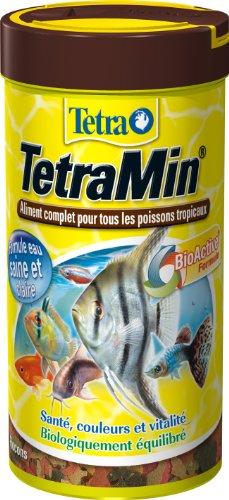 TetraMin en Flocons - Aliment Premium Complet pour Poissons Tropicaux de Surface - Favorise la Croissance la Santé et la Longévité - Renforce la Couleur - 250 ml