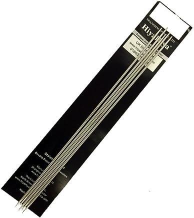 HiyaHiya 不锈钢双尖针,5 件套 银色 2.50mm 5060347282038