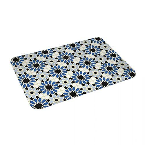 Alfombra de azulejos árabes, de poliéster, antideslizante, para decoración de suelo, baño, cocina, dormitorio, 40 x 60
