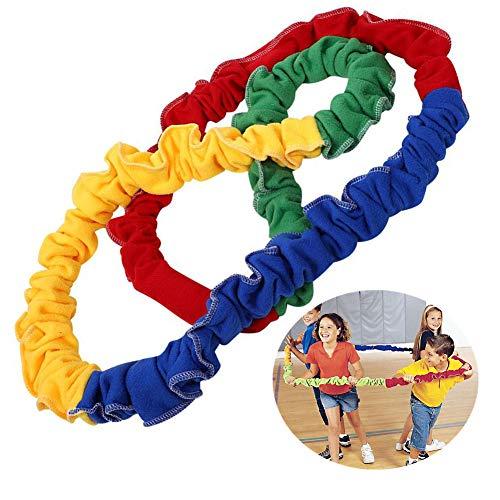 Jadpes Elasticity Rope Game, Elasticity Rope, Running Push Game Integrazione sensoriale Sport di Squadra all'aperto per Bambini Northeast Southwest Running Elastici arcobaleni Co