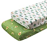 ALVABABY Changing Pad Covers 2pack 100% Organic Cotton Soft and Light Baby Cradle Mattress for Boys and Girls 2TWCZ11